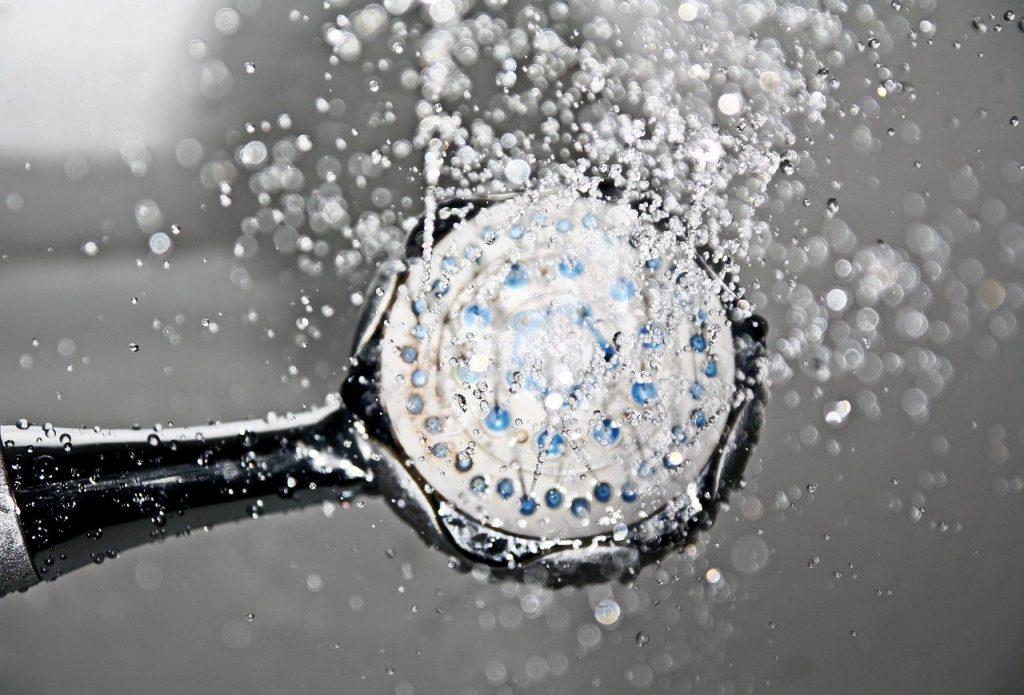 shower water