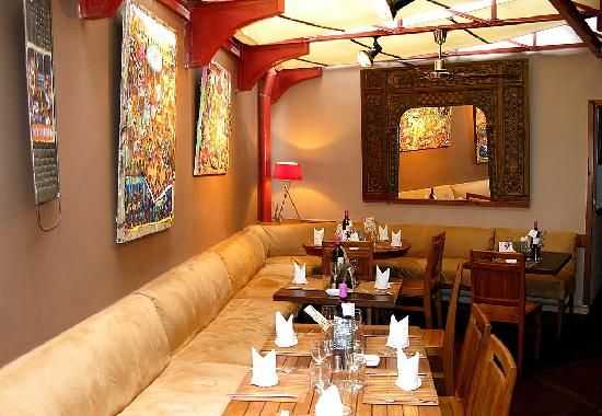 interior decor at a restaurant