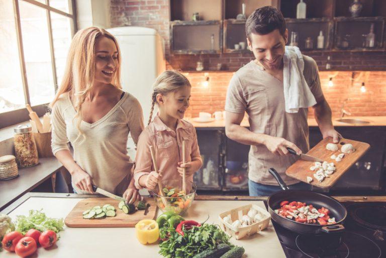 food preparation with kid